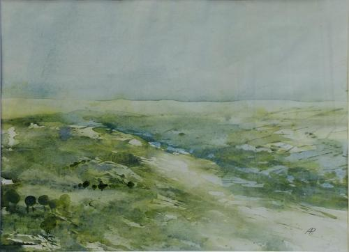 Landschaft im Grün